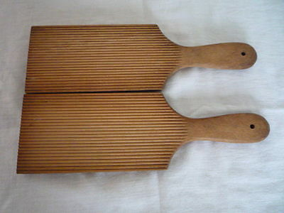 Vintage Pair of  Wooden Butter Pats Unwaxed