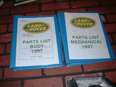 Military Illustrated Parts Lists For Land Rover .1997.