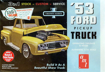1953 Ford Pickup Truck 3in1 1:25 AMT Model Kit Bausatz AMT882