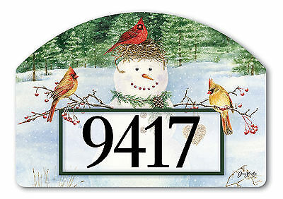 Snowman Birdfeeder Winter Magnetic Yard DeSign & Address Markers