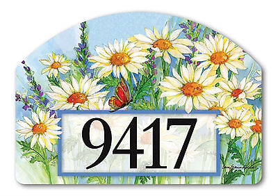 Shasta Daisies Spring Yard DeSigns Interchangeable Floral Address Marker