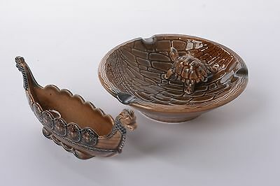 Wade Tortoise and Dragon Boat Trinket dishes