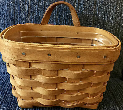 Longaberger 1993 Ambrosia Booking Basket And Protector - Classic Stain