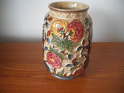 H.J.Wood Indian Tree 1950's Handpainted Vase