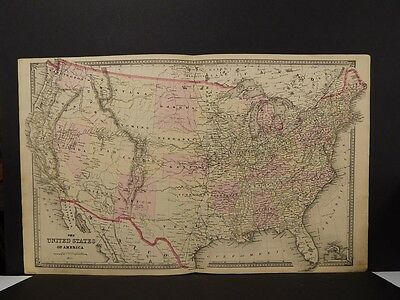 United States Map, 1875 Hand Color Z5#23