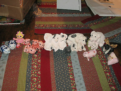 Large Pig Figures Statue Lot REDUCED