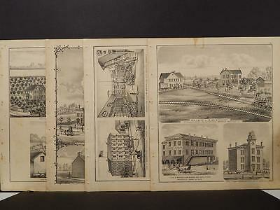 Ohio, Darke County Map, 1875 Engravings, Four Pages! Z5#28