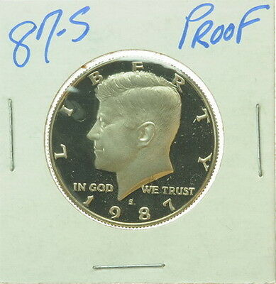 1987 S US Mint Kennedy Half Dollar Proof 50 Cent Coin