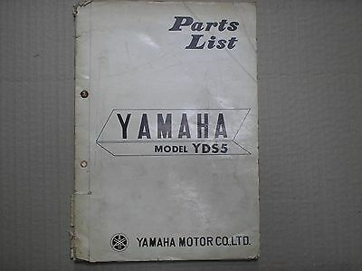Yamaha 250 YDS5 DS5 genuine parts catalogue printed March 1967 USED
