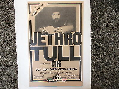 Jethro Tull Poster Concert Poster at the Civic Arena, Pittsburgh !