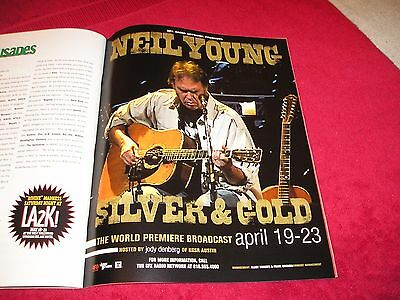 NEIL YOUNG - 2000 US Full-Page Color Ad 'Silver & Gold ' Album Radio Show