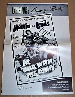 At War With The Army * Martin & Lewis Comedy Great Original Pressbook