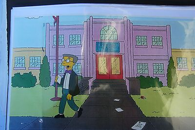 Original Unique SIMPSONS Production Cell  Bart  in class COA hand painted 007