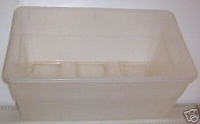 Store Display Fixtures CLEAR STORAGE BIN OR TOTE 24""
