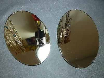 """5"""" X 3"""" oval display mirrors, 4 pieces, New Old Stock BIN384"""