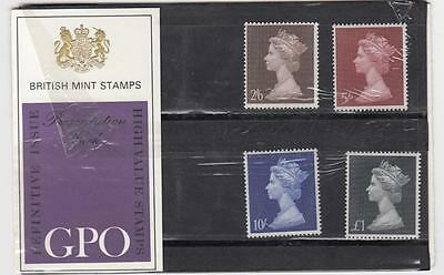 Gb Gpo Line Engraved Process High Value Definitives Presentation Pack