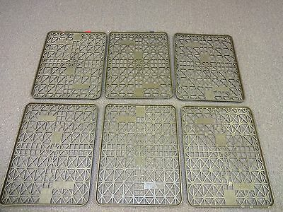 Lot of 6 Commercial Bakery Bread Rack Trays Sheet Brown Plastic Pallet Trays