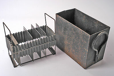 Vintage Metal Developing tank for Glass Plates - These are extremely rare
