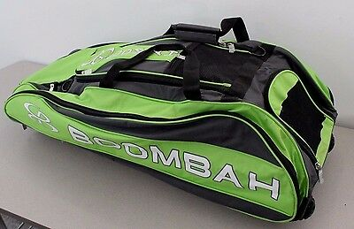 Boombah Baseball Softball Rolling Beast Bag Black Green SMALL STAIN