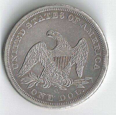 1859 - O   Seated Liberty Silver Dollar   VERY  NICE  OLD  COIN