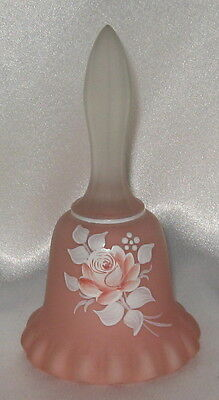 Westmoreland Pink Satin Bell Hand Painted Rose