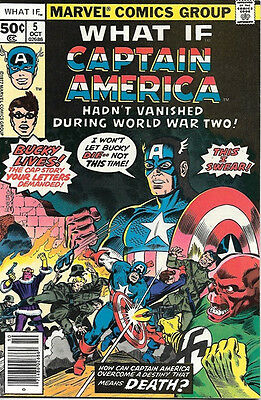 What If? Comic Book #5 Captain America, Marvel Comics 1977 FINE+