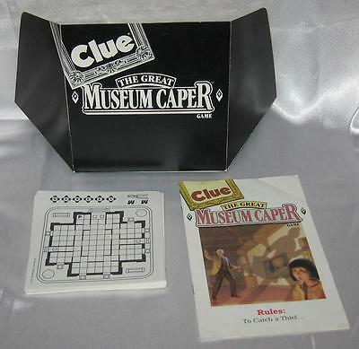 Clue The Great Musem Caper Game Parts