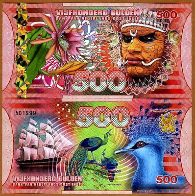 Netherlands East Indies (Indonesia), 500 Gulden, 2016 Polymer, UNC   Man