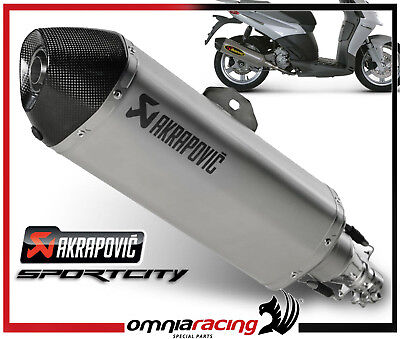 Exhaust tube Approved Akrapovic Aprilia Sportcity Cube 125 200 300 ie 09>