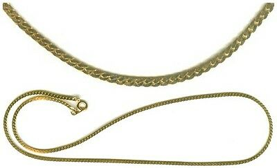 "18"" Hi-Quality 24kt Gold THICKLY Plated Chain Ancient Egyptian Flesh of the Gods"