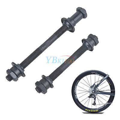 1 Pair Bicycle Quick Release Front and Back Rear Axles Hollow Hub Shaft Durable