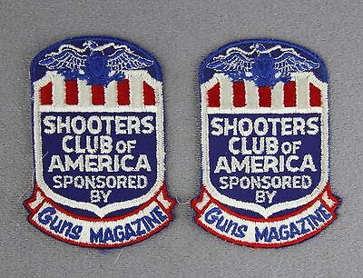 Two Vintage Never Used Woven Patches Shooters Club Of America Guns Magazine