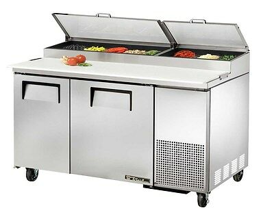 "True 60"" S/s Pizza Prep Table Cooler 15.9 Cu.Ft - TPP-60"