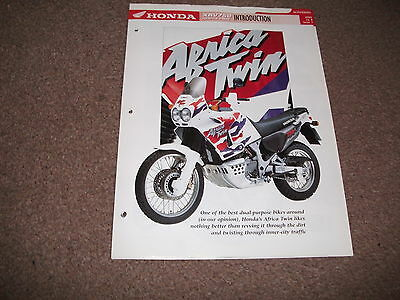 HONDA XRV750 AFRICA TWIN the data/fact file from essential superbikes