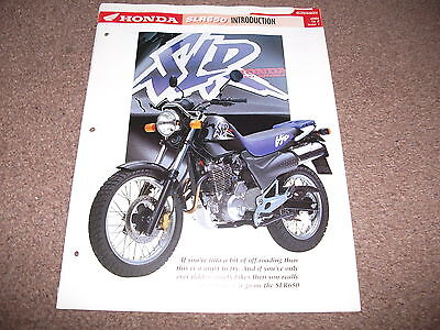 HONDA SLR650 the complete data/fact file from essential superbikes