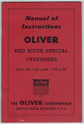 Oliver Red River Special Threshers Instruction Manual