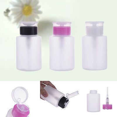 Nail Art Tools for Remover Polish Cleaner Safe Wash Nail Empty Pump Dispenser l