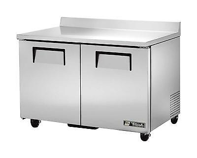 True 12cu.ft, S/s Two Section Worktop Cooler w/ Backsplash - TWT-48