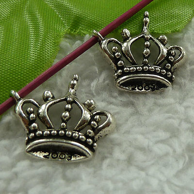 free ship 216 pieces tibet silver crown charms 21x19mm #3745