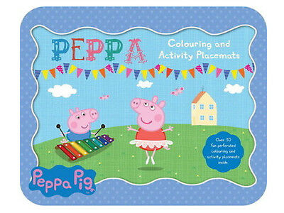 Peppa Pig Colouring Activity Placemats Christmas Childrens Party Stocking Filler