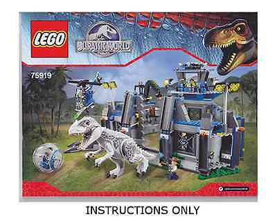 (Instructions) for LEGO 75919 - Indominus rex Breakout - INSTRUCTION MANUAL ONLY