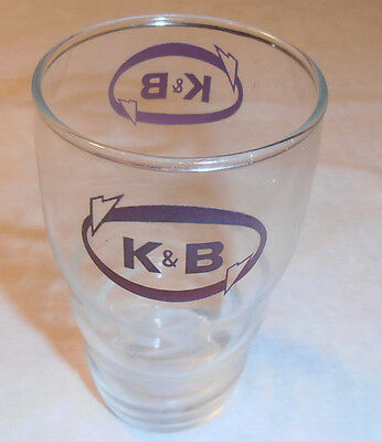 Vintage K&b Drugstore Counter Glass Very Old New Orleans La. Store