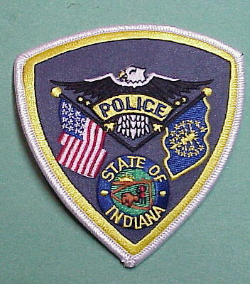 Indiana  ( Silver Border )   Police Patch   Free Shipping!!!