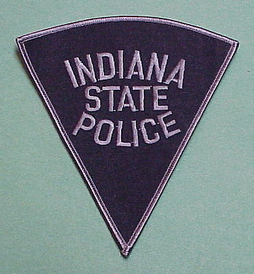 Indiana State Police  Subdued ( Silver Border )  Police Patch   Free Shipping!!!