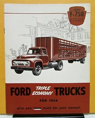 1954 Ford Truck Model F 750 Sales Brochure and Specifications