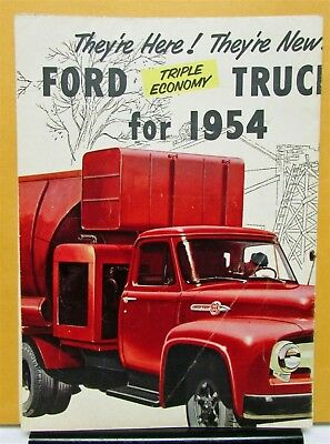 1954 Ford Truck Series F T C B P New Line Mailer