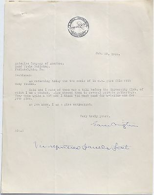 Earle Ovington 1st Official Air Mail Pilot 1911 Aviation Pioneer Signed Letter