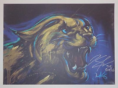 KARL ANTHONY TOWNS - SIGNED 18x24 WILDCAT PRINT w/ INSCRIP. - COA & PROOF PIC
