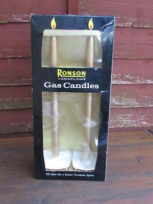 """Vintage 15"""" Large Ronson Gas Varaflame Boxed Candles"""