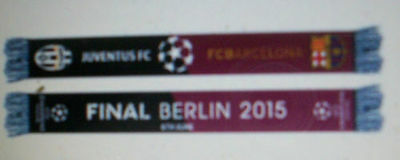 Barcelona Juventus 2015 Champions League Final Official Coloured Scarf